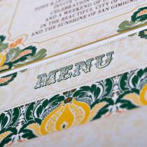 Dottie Tutti Fruiti Lemon Wallet Invitation  B