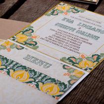 Dottie Tutti Fruiti Lemon Wallet Invitation  D