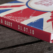 Dottie Union Jack Personalised Guest Book