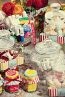Dottie Vintage Stripe Seaside Candy Bar Wedding Stationery B