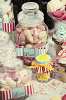 Dottie Vintage Stripe Seaside Candy Bar Wedding Stationery C