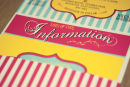 Dottie Vintage Stripe Seaside Wallet Invitation A