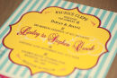 Dottie Vintage Stripe Seaside Wallet Invitation B