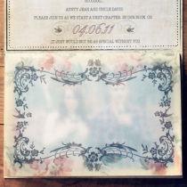 Dottie Vintage Sweethearts Booklet Invitation N