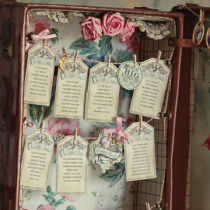 Dottie Vintage Sweethearts Table Seating Plan A