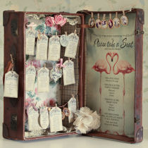 SWEETHEARTS DIY SUITCASE TABLE SEATING PLAN