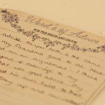 Dottie Vintage Sweethearts Words of Advice Sheet
