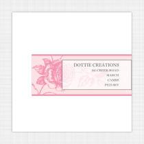 English Rose Envelope Address Label