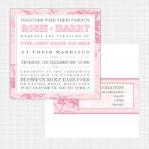 English Rose Flat Card Invitation