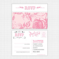 English Rose RSVP Reply Card