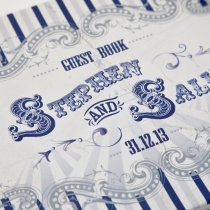 FUNFAIR Guest Book Navy & Silver-10