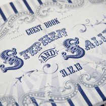 FUNFAIR Guest Book Navy & Silver-11
