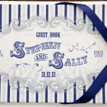 FUNFAIR Guest Book Navy & Silver-2
