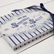 FUNFAIR Guest Book Navy & Silver-8