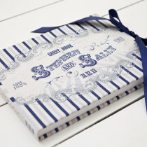FUNFAIR Guest Book Navy & Silver-9
