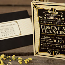 GATSBY 1920s Wedding Invitation 10