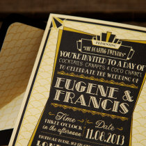 GATSBY 1920s Wedding Invitation 2