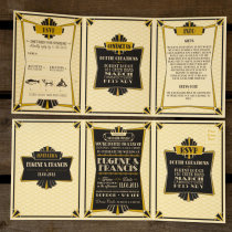 GATSBY 1920s Wedding Invitation 4