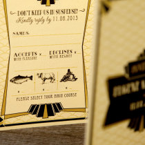 GATSBY 1920s Wedding Invitation 5