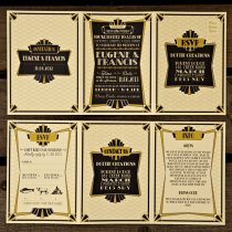 GATSBY 1920s Wedding Invitation 8