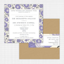 Gerberra Flat Card Invitation
