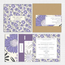 Gerberra Folded Card Invitation with RSVP