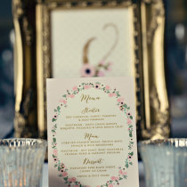HIPPY AT HEART Tent Card Menu