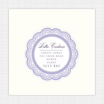 Lace Envelope Address Label