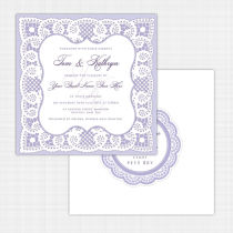 Lace Flat Card Invitation