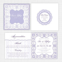 Lace Folded Card Invitation