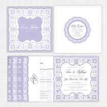 Lace Folded Card with RSVP Invitation