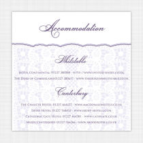 Lace Information Card