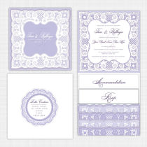 Lace Pocket Wallet Invitation Invitation
