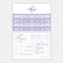 Card-Lace RSVP Reply-Card