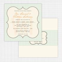 Monogram Flat Card Invitation