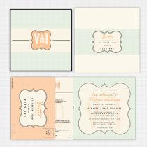 Monogram Folded Card Invitation with RSVP