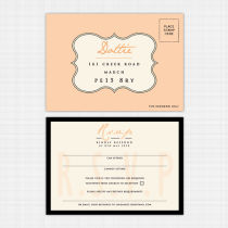 Monogram RSVP Reply Card