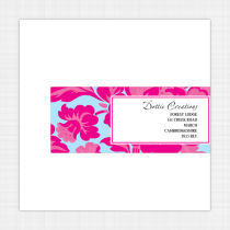 Peony Envelope Address Label