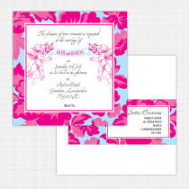 Peony Flat Card Invitation