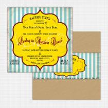 Seaside Flat Card Invitation