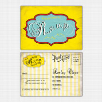 Seaside RSVP Reply Card