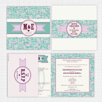 Summer Blossom Folded Card with RSVP