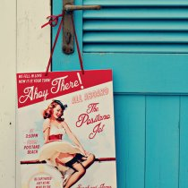 THAT'S AMORE Boat Cruise Pin Up Poster 002
