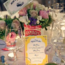 THAT'S AMORE Flag Table Numbers 001