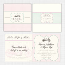 Tandem Folded Card Invitation