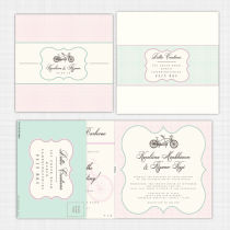 Tandem Folded Card with RSVP Invitation