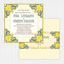 Tutti Frutti Flat Card Invitation