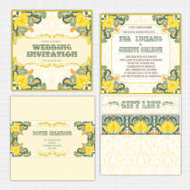 Tutti Frutti Pocket Wallet Invitation