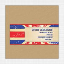 Union Jack Envelope Address Label