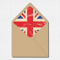 Union Jack Envelope Liner